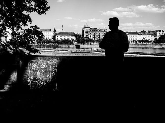 Silueta města pražského