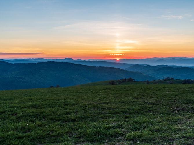 Východ slunce z Machnáče