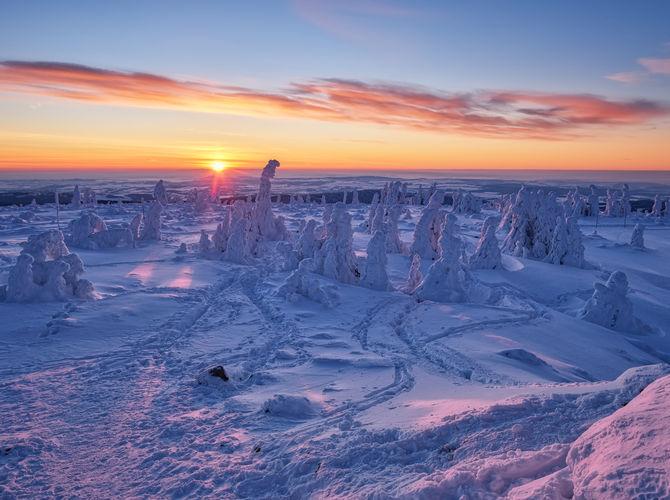 Východ při -18 °C