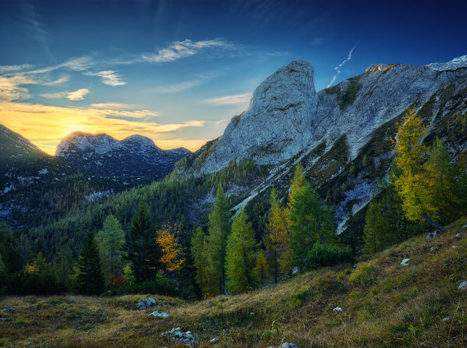 Totes Gebirge - říjnové ráno