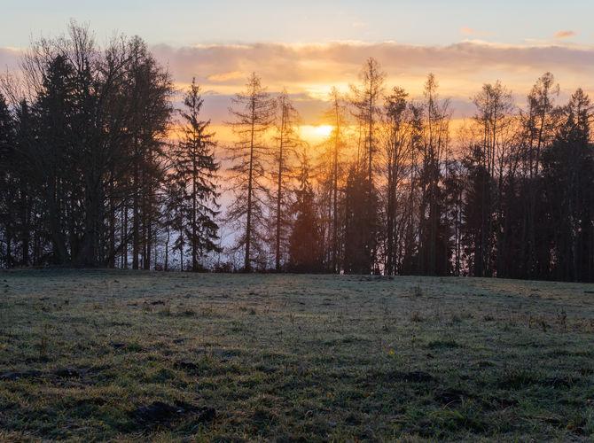 Východ slunce nad Trutnovem