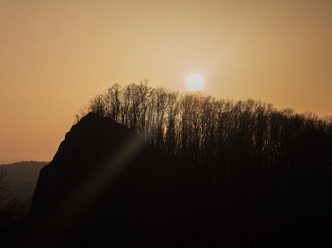Západ slunce na Kotouči