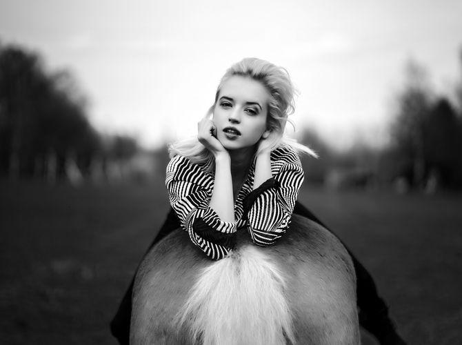 Stanislava on Horse