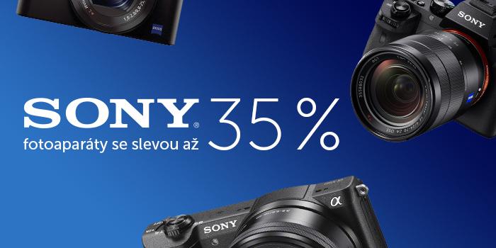 Sony fotoaparáty se slevou až 35 %!