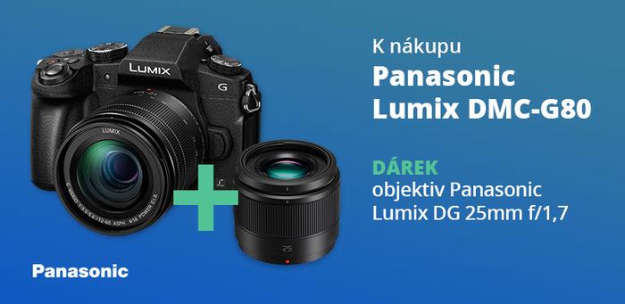 K nákupu Panasonic G80 nyní jako dárek objektiv Lumix DG 25mm f/1,7