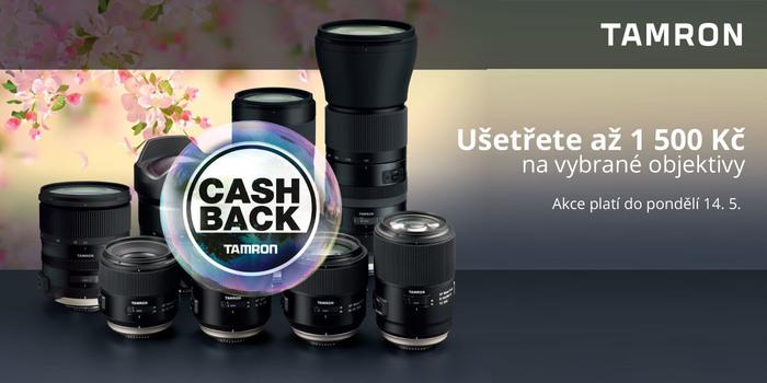 Cashback Tamron prodloužen do 14. května!
