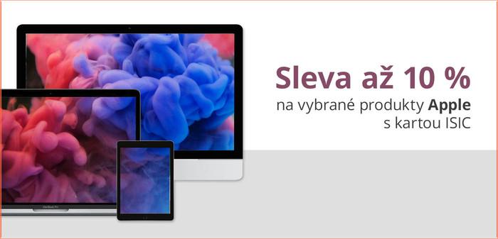 Sleva s kartou ISIC na produkty Apple