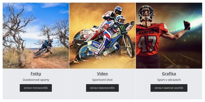 Odstartovaly tři kategorie soutěže v oblastech FOTO/VIDEO/GRAFIKA na téma OUTDOROVÉ SPORTY