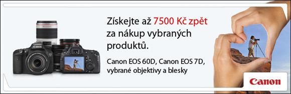 Cashback až 7 500 Kč na vybrané produkty Canon
