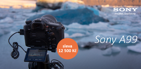 Vlajková loď Sony A99 je nyní levnější o 12500 Kč