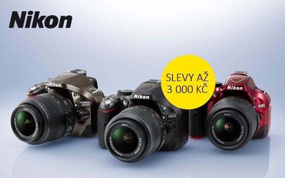 Oblíbené modely zrcadlovek Nikon D5200 a D3300 se slevou až 3000 Kč