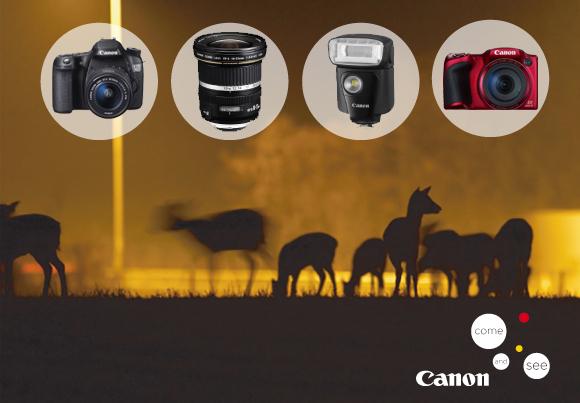 Zimní cashback Canon - ušetřete až 5 000 Kč!