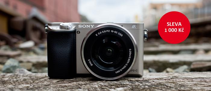 Zlevnili jsme fotoaparát Sony Alpha A6000 s objektivem 16-50mm o 1 000 Kč