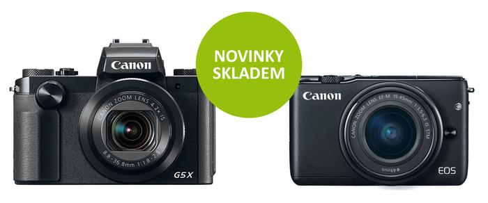 Nové kompakty Canon EOS M10, G9 X a G5 X jsou již skladem