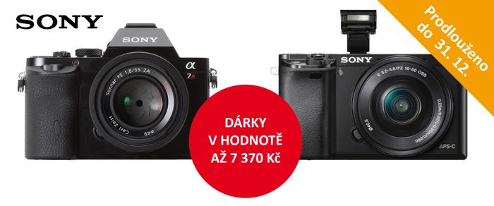 Získejte dárky v hodnotě až 7 370Kč k Sony Alpha A6000 a A7