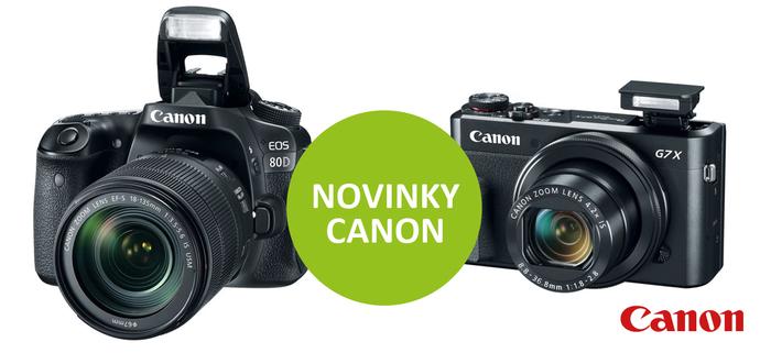 Canon představil novinky EOS 80D, PowerShot G7 X MkII a další modely