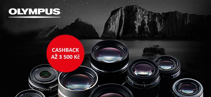 Začíná cashback Olympus, ušetřete až 3 500 Kč při nákupu objektivů nebo fotoaparátů
