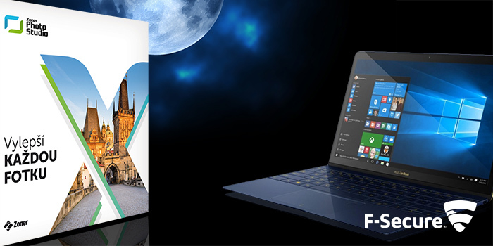 Ke každému notebooku nyní získáte Zoner Photo Studio X a zabezpečení F-Secure zdarma!