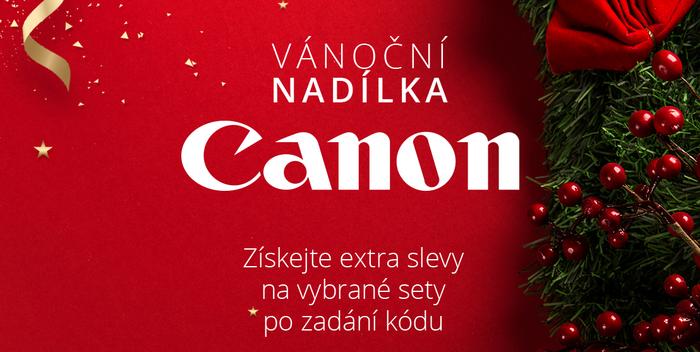 Získejte extra vánoční slevu na sety od Canonu