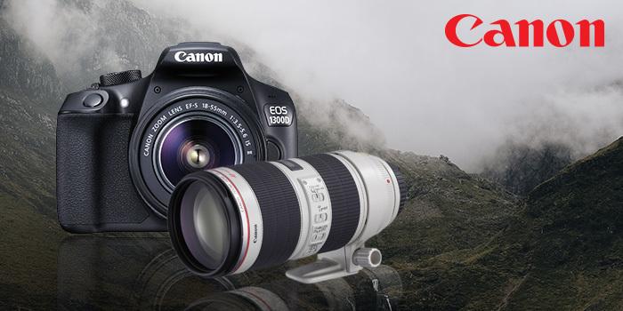 Získejte slevu až 6 200 Kč na vybrané modely fotoaparátů a objektivů Canon