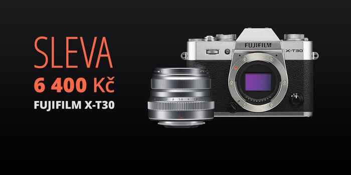 Objednejte si Fujifilm X-T30 společně s objektivem a získejte slevu 6 400 Kč