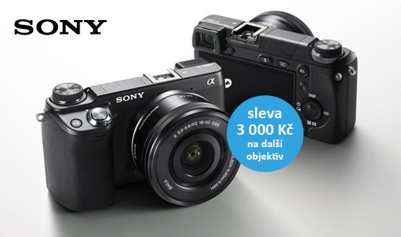 K Sony NEX-6 dostanete slevu 3 000 Kč na další objektiv