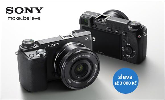 Získejte fotoaparát Sony NEX-6 s výměnnými objektivy za akční cenu