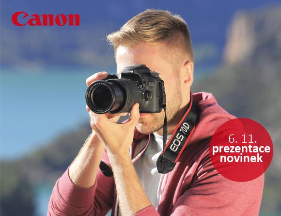 Přijďte si vyzkoušet nové fotoaparáty a STM objektivy Canon