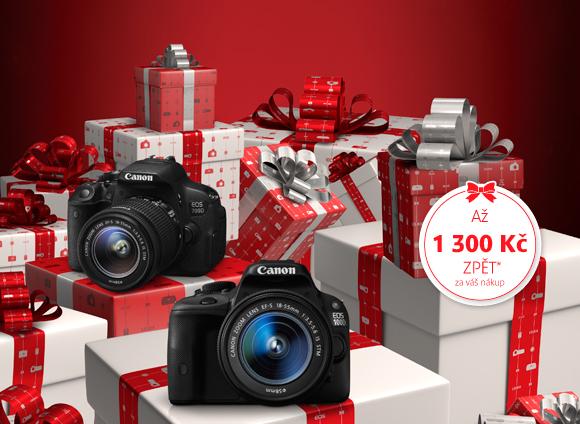 Cashback 1 300 Kč na vybrané zrcadlovky Canon prodloužen