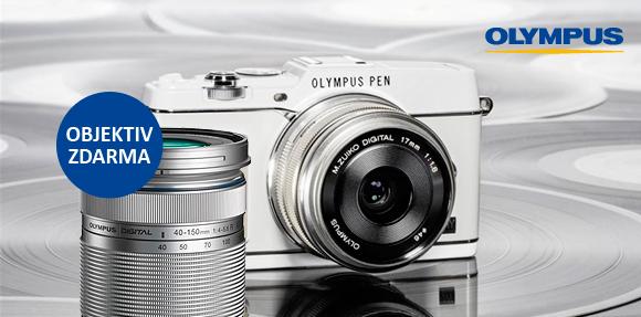 Olympus PEN E-P5 s teleobjektivem 40-150mm zdarma