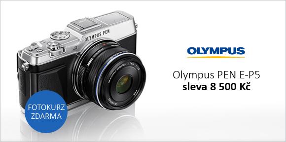 Olympus E-P5 se slevou 8 500 Kč a fotokurzem zdarma