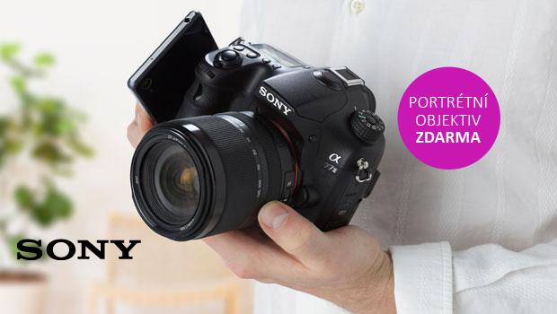 K Sony A77II dostanete ještě portrétní objektiv zdarma