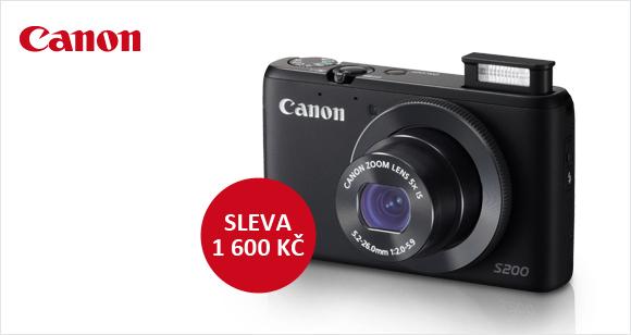 Pořiďte si Canon PowerShot S200 se slevou 1 600 Kč!
