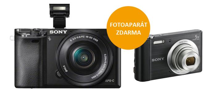 Získejte fotoaparát zdarma k Sony Alpha A6000