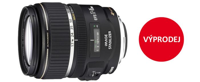 Výprodej Canon EF-S 17-85mm za 6 990 Kč