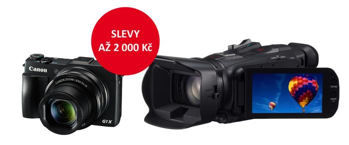 Zlevnili jsme kompakty a kameru Canon
