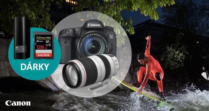 Získejte hodnotné dárky při nákupu fotoaparátů a objektivů Canon