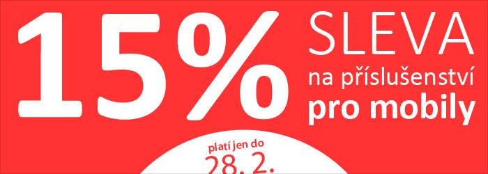 15 % sleva na příslušenství pro mobily