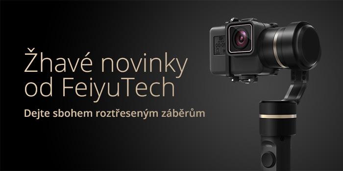 Perfektní stabilizované záběry s novinkami Feiyu Tech G5, SPG a MG V2. Nyní i ve zvýhodněných sadách!