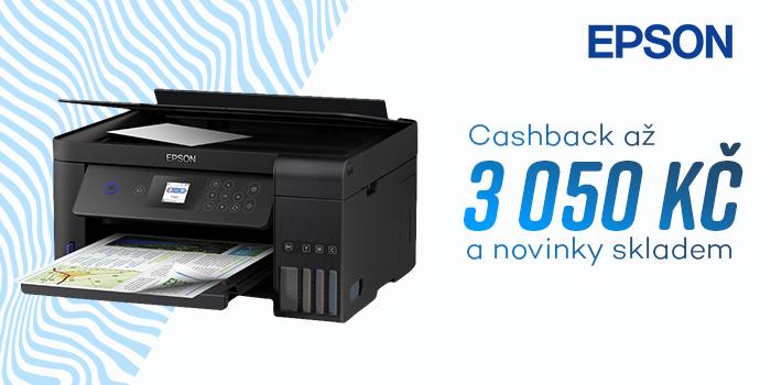 Objevte žhavé novinky Epson skladem a využijte možnosti získat cashback