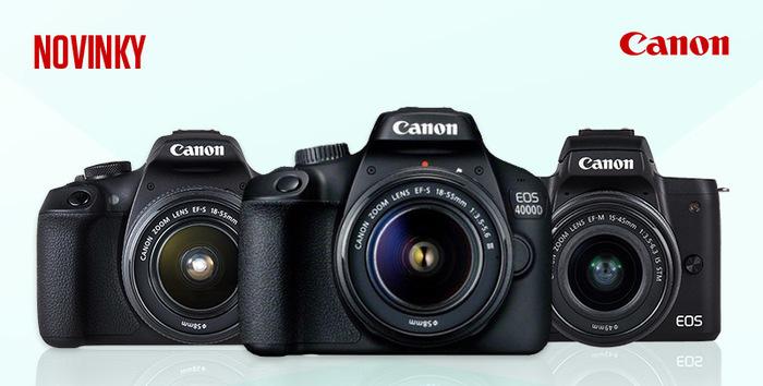 Canon nadílka novinek - EOS 2000D, 4000D, EOS M50, blesk 470EX-Al