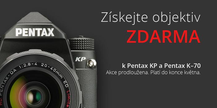 K digitálním zrcadlovkám Pentax KP a K-70 dostanete objektiv jako dárek. Akce prodloužena do konce května!