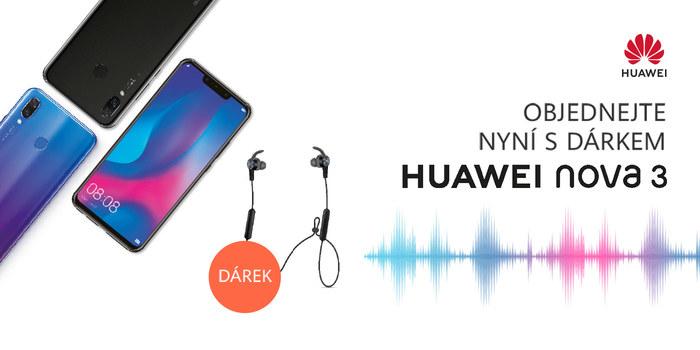 Představení mobilního telefonu Huawei Nova 3 + sluchátka zdarma