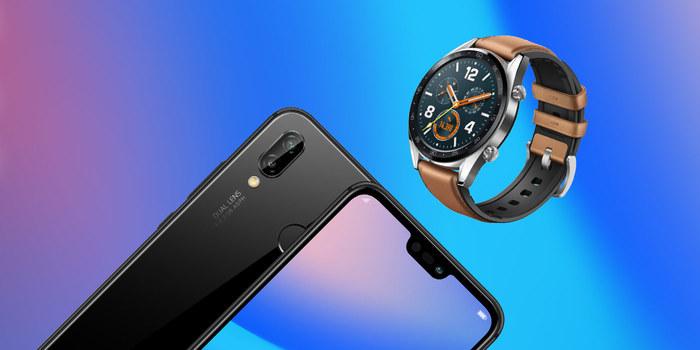 Mobilní telefon Huawei P20 Lite a hodinky Huawei Watch GT Sport nyní se slevou až 12 %