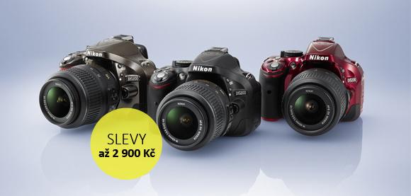 Letní slevy fotoaparátů Nikon D7000 a D5200 - ušetřete až 2 900 Kč