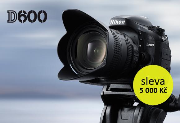 Zrcadlovka Nikon D600 nyní o 5 000 Kč levnější