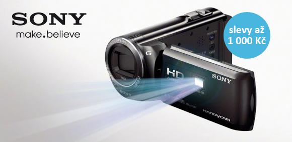 Videokamery Sony jsou teď až o 1000 Kč levnější