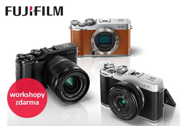 Přijďte na workshopy Fujifilm zdarma věnované fotoaparátům řady X a instantní fotografii