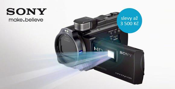 Videokamery Sony s projektorem jsou teď levnější až o 3 500 Kč