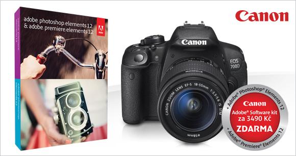 Photoshop Elements 12 zdarma k zrcadlovkám Canon EOS 700D a EOS 100D